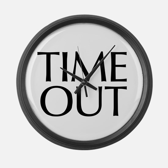 Time Out McCain Large Wall Clock
