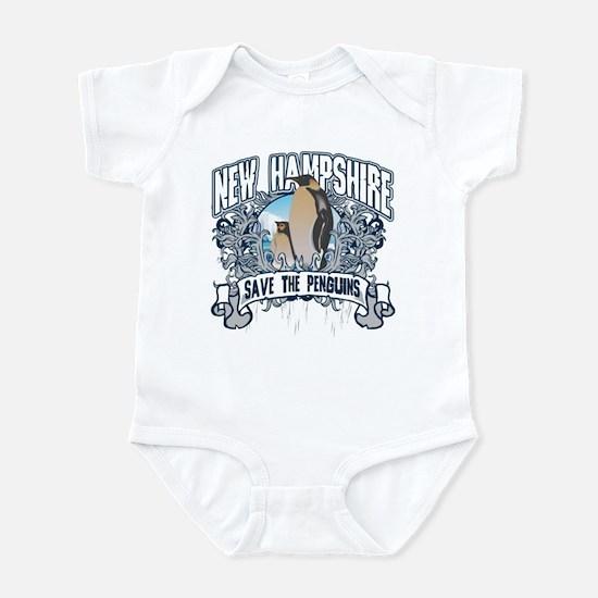 Save the Penguins New Hampshire Infant Bodysuit