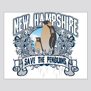 Save the Penguins New Hampshire Small Poster
