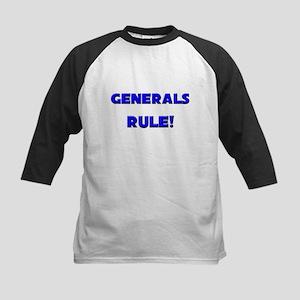 Generals Rule! Kids Baseball Jersey
