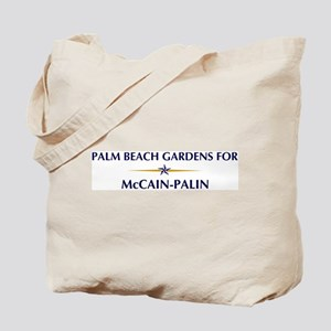 PALM BEACH GARDENS for McCain Tote Bag