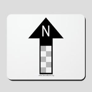Archaeology north arrow Mousepad