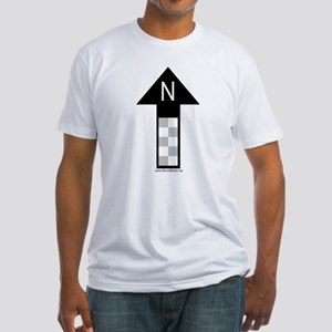 Archaeology north arrow Fitted T-Shirt