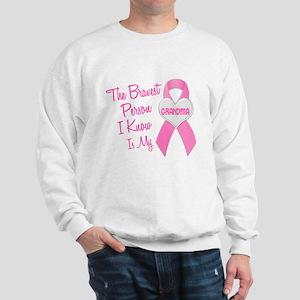 Bravest Person PINK (Grandma) Sweatshirt