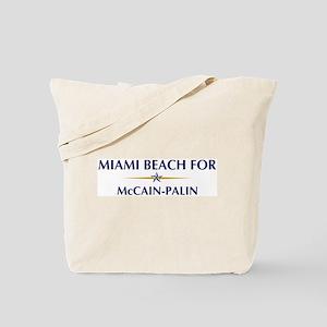 MIAMI BEACH for McCain-Palin Tote Bag