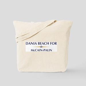 DANIA BEACH for McCain-Palin Tote Bag
