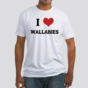 I Love Wallabies Fitted T-Shirt