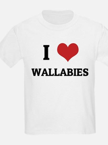 I Love Wallabies Kids T-Shirt