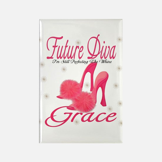 Future Diva Grace Rectangle Magnet