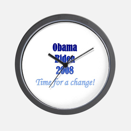 Obama Biden Time for Change Wall Clock