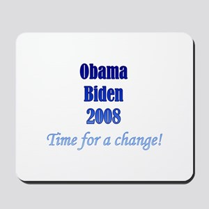 Obama Biden Time for Change Mousepad