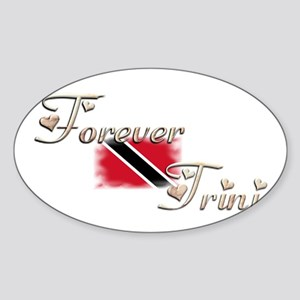Forever Trini - Oval Sticker