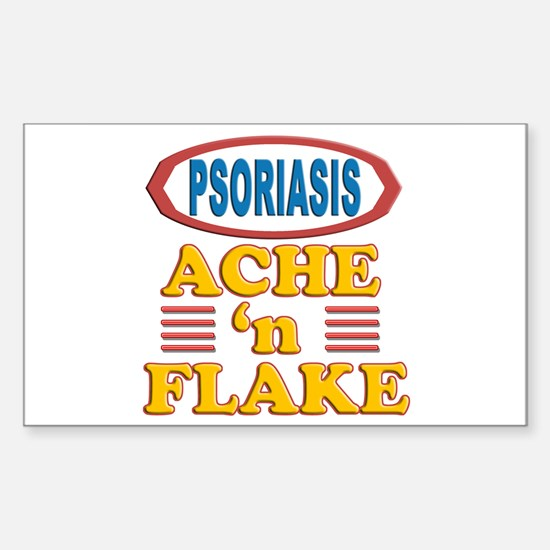 Psoriasis: Ache 'n Flake Rectangle Decal