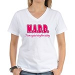M.A.D.D. Women's V-Neck T-Shirt