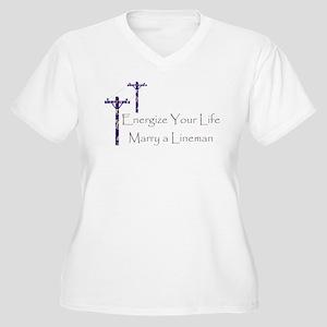 Energize Your Life Women's Plus Size V-Neck T-Shir