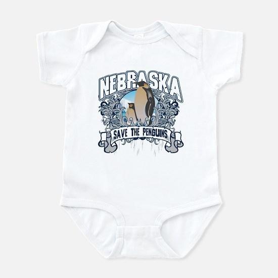 Save the Penguins Nebraska Infant Bodysuit
