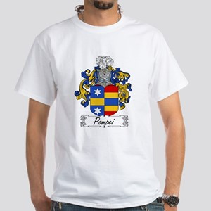 Pompei Family Crest White T-Shirt