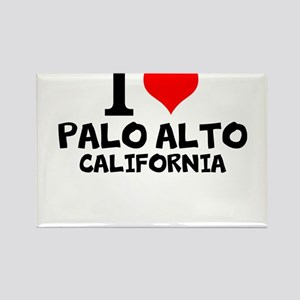 I Love Palo Alto, California Magnets