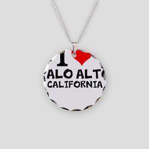 I Love Palo Alto, California Necklace