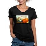 1909 Thanksgiving Women's V-Neck Dark T-Shirt