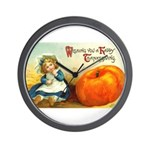 1909 Thanksgiving Wall Clock