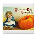 1909 Thanksgiving Tile Coaster