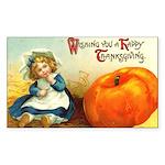 1909 Thanksgiving Rectangle Sticker