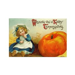 1909 Thanksgiving Rectangle Magnet (100 pack)