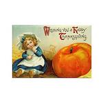 1909 Thanksgiving Rectangle Magnet