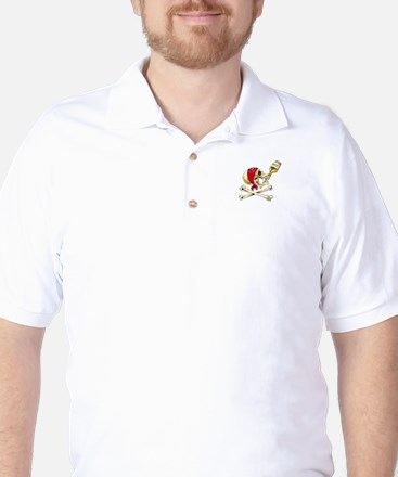 White Rum Skull Golf Shirt