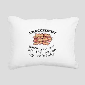 Snaccident Bacon Mistake Rectangular Canvas Pillow