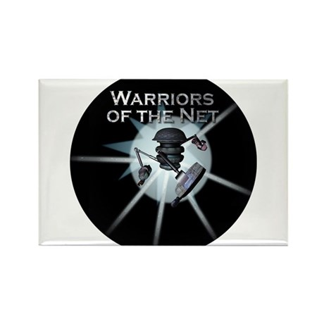 Warriors of the Net Rectangle Magnet