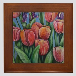 Mainly my tulips Framed Tile