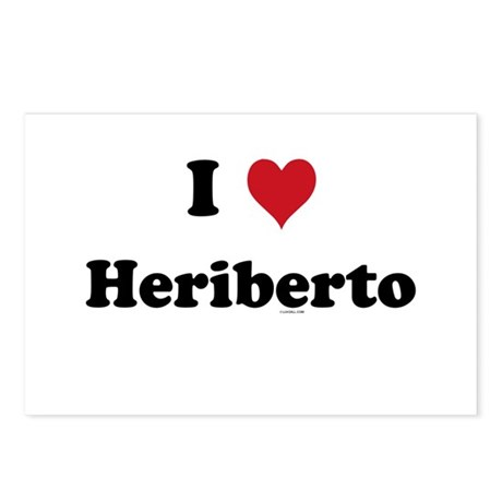 I love Heriberto Postcards (Package of 8)