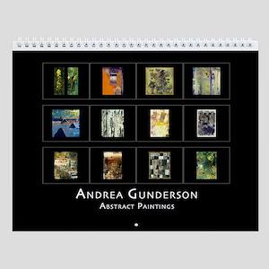 Andrea Gunderson Abstract Paintings Wall Calendar