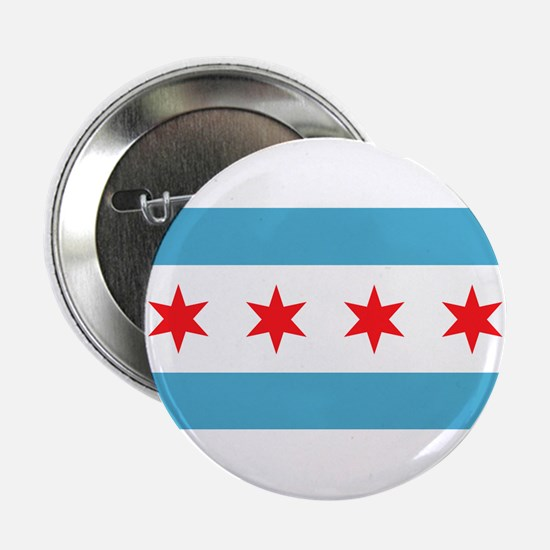 "Cute Chicago flag 2.25"" Button"