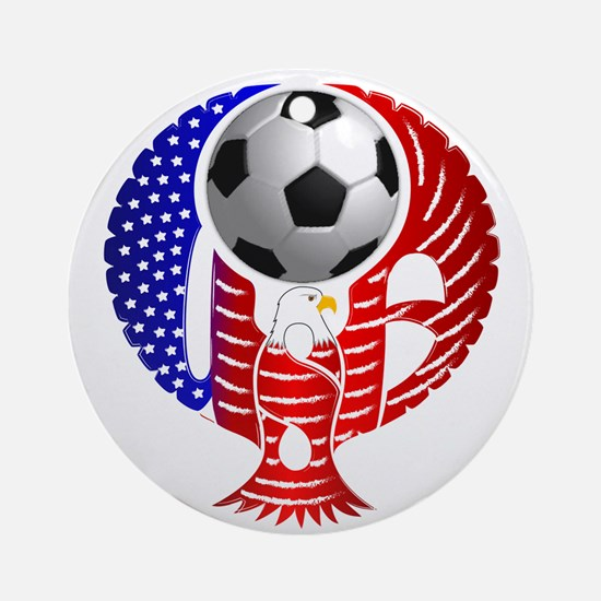 USA Soccer Team Ornament (Round)