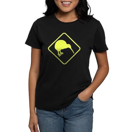 New Zealand Kiwi Sign Women's Dark T-Shirt