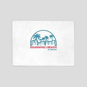 Hawaii - Kaanapali Beach 5'x7'Area Rug