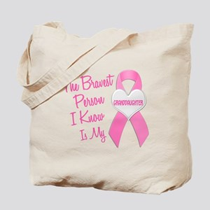 Bravest Person PINK (Granddaughter) Tote Bag