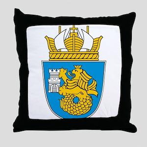 Burgas Coat of Arms Throw Pillow
