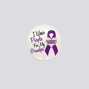 I Wear Purple For My Grandpa 18 (AD) Mini Button