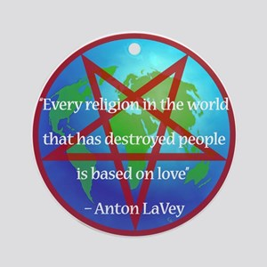 LaVey Religion Quote Ornament (Round)