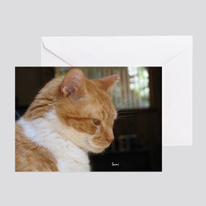 Merwyn: Yellow Tabby Cat Greeting Cards (Package o