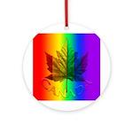 Gay Pride Canada Ornament (Round)