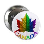 Canada Pride Buttons 10 Pk Gay Pride Rainbow Gifts