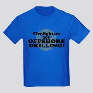 Firefighters For Offshore Drilling Kids Dark T-Shi