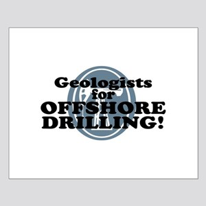 Geologists For Offshore Drilling Small Poster