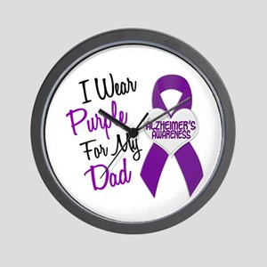 I Wear Purple For My Dad 18 (AD) Wall Clock