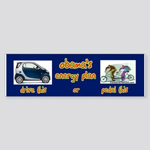 """Obama's Energy Plan"" Bumper Sticker"